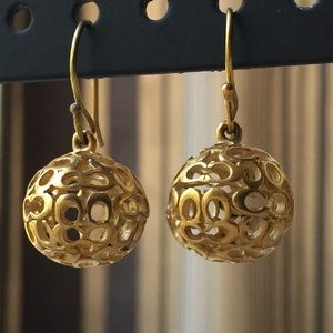 Authentic coach earrings